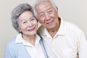 portrait of a senior asian couple. click for more: