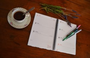 Address book and coffee